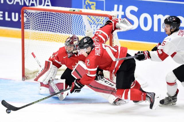 Le Canada bien failli trébucher contre la Suisse,... (La Presse Canadienne)