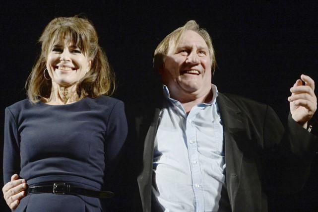 Gérard Depardieu, aux côtés de l'actrice et réalisatrice... (Vasily Maximov, Archives AFP)