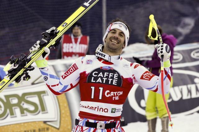 Le Français Adrien Théaux a gagné une descente... (Alessandro Trovati, AP)