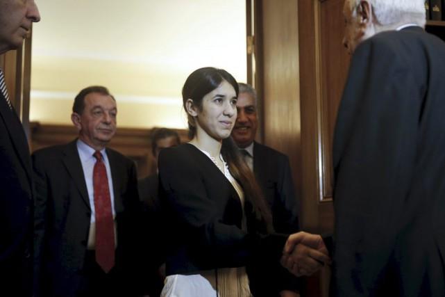 Nadia Murad a a été reçue mercredi, à... (PHOTO ALKIS KONSTANTINIDIS, REUTERS)