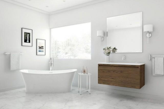 Les salles de bains rivalisent d'élégance. Voici, en quatre tendances, ce qui... (PHOTO FOURNIE PAR WETSTYLE)