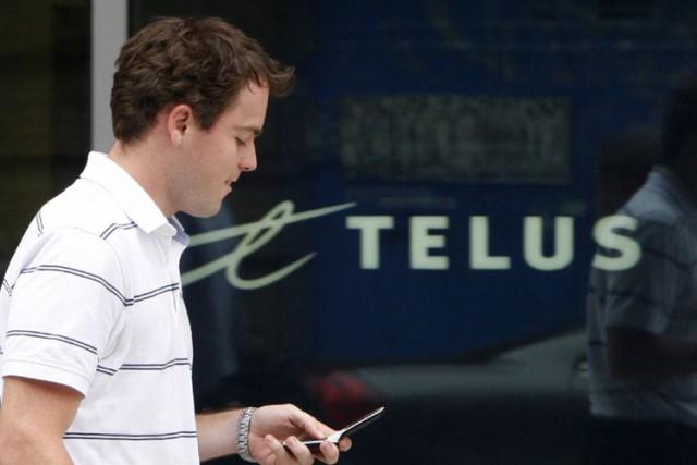 Le bénéfice ajusté de Telus a reculé de... (PHOTO ARCHIVES REUTERS)