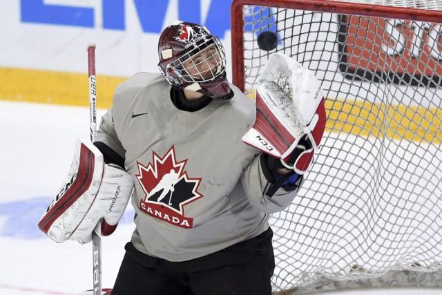 Mackenzie Blackwood défend présentement les couleurs du Canada... (Photo Sean Kilpatrick, PC)