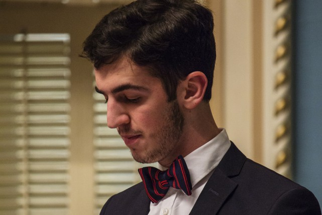 Dardan Isufi a participé au Parlement jeunesse Québec... (Fournie par le Parlement jeunesse Québec)