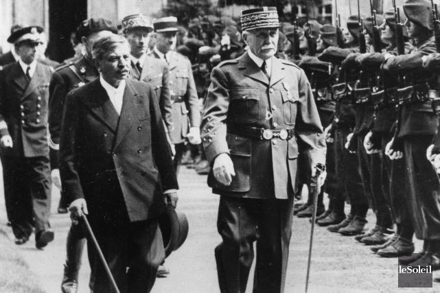 La Maréchal Philippe Pétain (à droite) et le... (Photothèque Le Soleil)