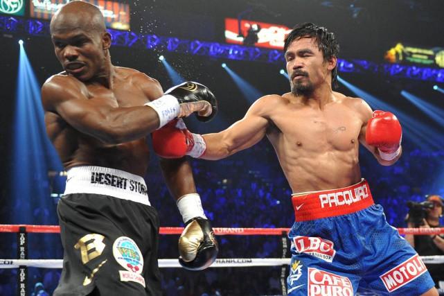 Manny Pacquiao sera de retour dans le ring le 9 avril pour la première fois... (Photo archives AFP)