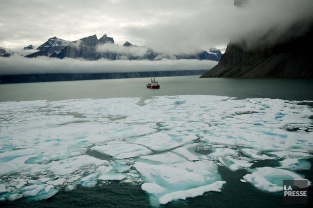 Le Pôle Nord était anormalement doux mercredi avec des températures comprises... (Archives, La Presse)