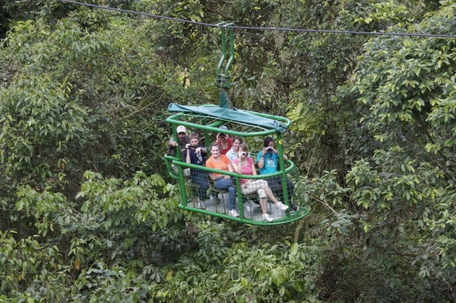 Les gondoles du parc Rain Forest Adventures Atlantic... (PHOTO FOURNIE PARRAIN FOREST ADVENTURES)