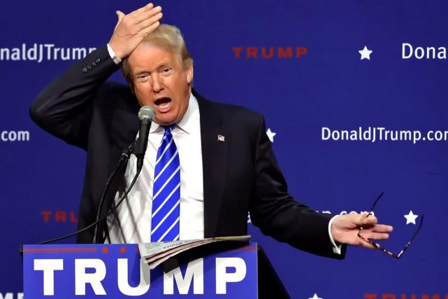 Donald Trump a livré une critique toute personnelle concernant les efforts pour... (Photo AP)