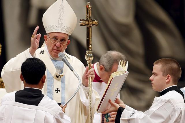 Plus tôt dans la matinée, le pape avait... (Photo Giampiero Sposito, Reuters)