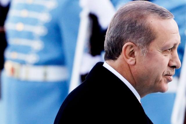 Le président islamo-conservateur turc, Recep Tayyip Erdogan... (Archives, Agence France-Presse)