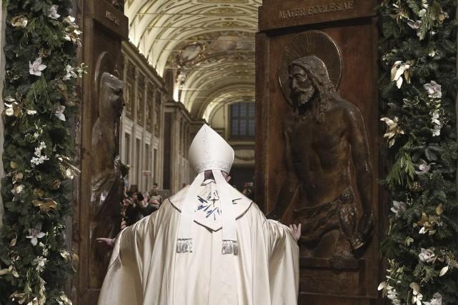 Le pape a appelé à garder espoir en... (Agence France-Presse)
