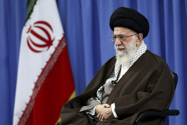 Ali Khamenei, Guide suprême de la révolution iranienne... (Photo archives AP)