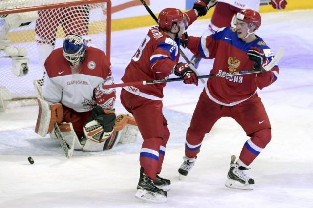 La Russie a créé l'égalité en marquant avec... (Photo Markku Ulander, Reuters)