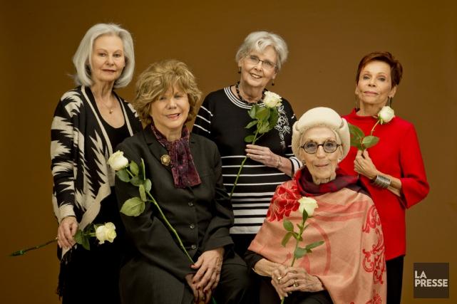 Elizabeth Lesieur, Denise Filiatrault, Andrée Champagne, Janine Sutto... (PHOTO DAVID BOILY, LA PRESSE)