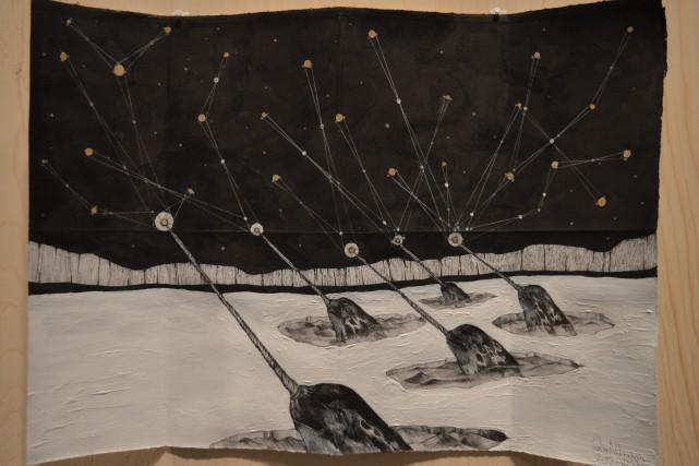 Les astres et les créatures boréales sont omniprésents... (Photo Le Progrès-Dimanche, Dominique Gobeil)
