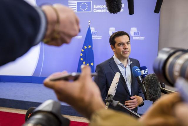 Le premier ministre grec Alexis Tsipras... (PHOTO GEERT VANDEN WIJNGAERT, ARCHIVES AP)