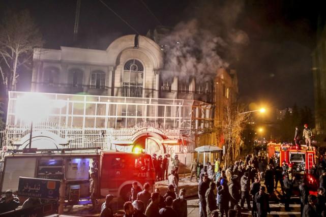 L'ambassade de l'Arabie saoudite à Téhéran a été... (AP)