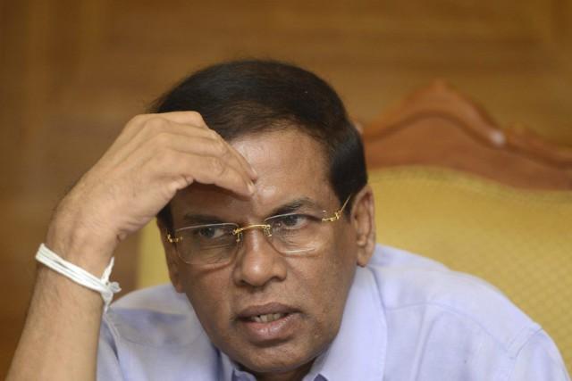 Le président Maithripala Sirisena... (PHOTO LAKRUWAN WANNIARACHCHI, AFP)