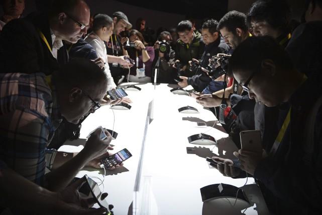 Le CES de Las Vegasavait attiré un nombre... (Robyn Beck, Agence France-Presse)