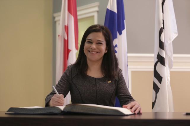 La nouvelle conseillère Julie Bourdon a hâte de... (photo Catherine Trudeau)