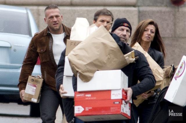 Des Hells Angels qui subissaient leur procès à... (Photo David Boily, archives La Presse)