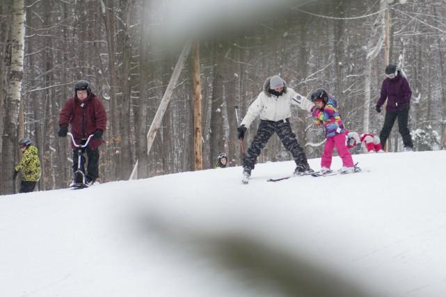 La neige abondante des derniers jours fait le... (Spectre Média, Julien Chamberland)