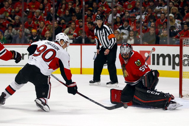 Les Blackhawks ont infligé un deuxième blanchissage de... (Associated Press)
