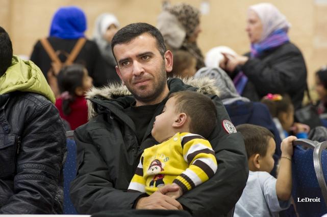 Près de 80 réfugiés syriens ont été accueillis... (Martin Roy, LeDroit)