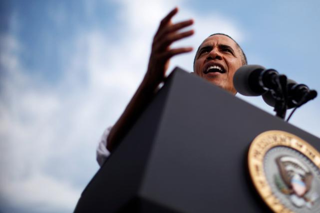 Barack Obama entame en 2016 sa dernière année... (PHOTOCHARLES DHARAPAK, ARCHIVES AP)