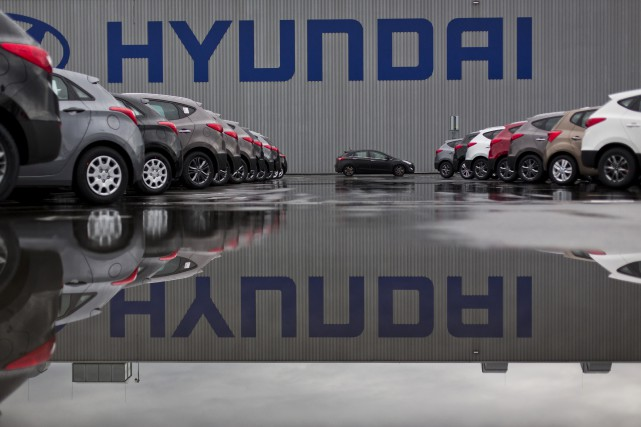 Hyundai, cinquième constructeur automobile mondial, est durement touché par... (Photo archives Bloomberg)
