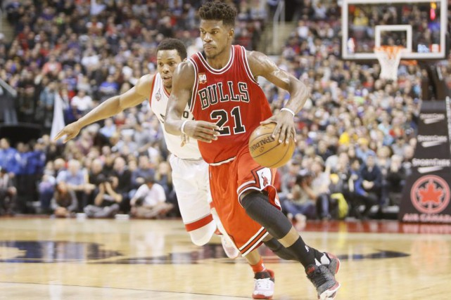 Jimmy Butler (21) a marqué 40 points lors de... (PHOTO JOHN E. SOKOLOWSKI, USA TODAY)