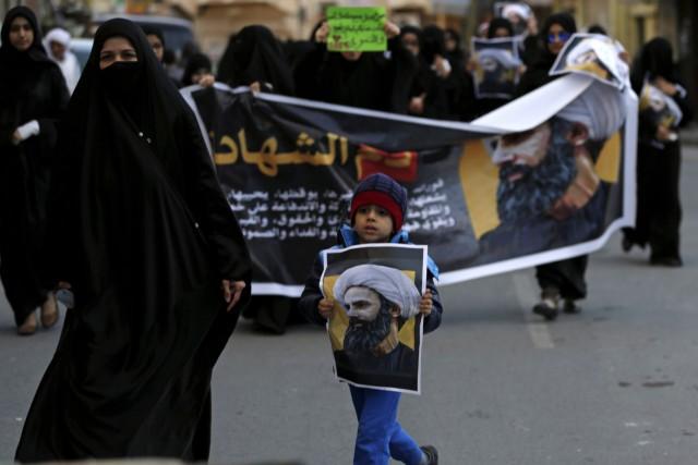 Manifestation à Daih, localité située à l'ouest de... (AP, Hasan Jamali)