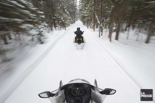 La dernière bordée de neige tombée sur le Québec fait en sorte que plus de 60%... (Archives La Presse)