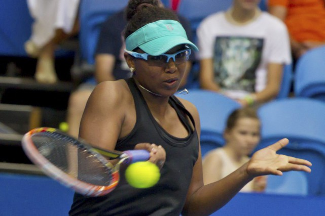 Vicky Duval (photo), qui a remplacé Serena Williams,... (AFP, Tony Ashby)