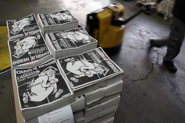Le numéro spécial de Charlie Hebdo publié un an après l'attentat... (PHOTO REUTERS)