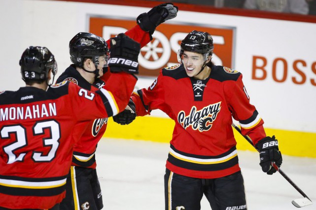 Johnny Gaudreau a amassé au moins un point dans... (PHOTO JEFF MCINTOSH, PC)