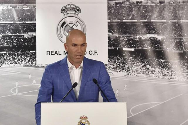 Zinédine Zidane était l'entraîneur de l'équipeB merengue depuis2014.... (Agence France-Presse)
