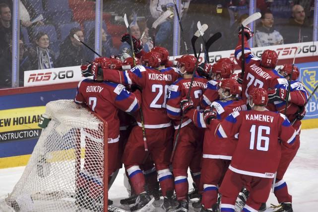 Yegor Korshkov a marqué l'éventuel but victorieux et récolté une mention... (Associated Press)