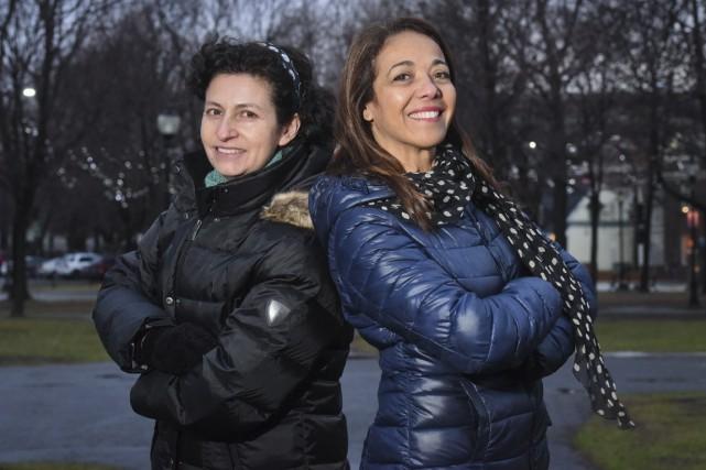 Cécilia Protz Salazar et Amina Chaffai, deux femmes... (François Gervais)