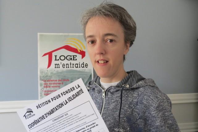 La coordonnatrice de Loge m'entraide, Sonia Côté.... (Photo courtoisie)