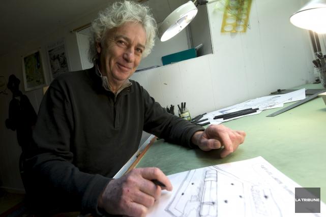 Le caricaturiste Hervé Philippe, qui croquait l'actualité dans... (Archives, La Tribune)