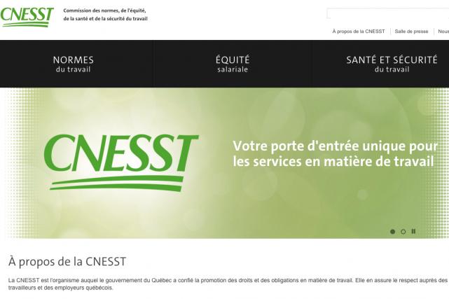 La CNESST résulte de la fusion de la... (Saisie d'écran du site de la nouvelle CNESST)