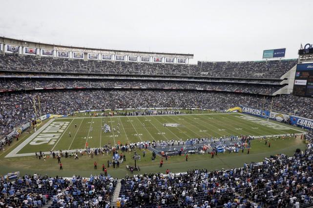Le domicile actuel des Chargers de San Diego,... (PHOTO ARCHIVES AP)