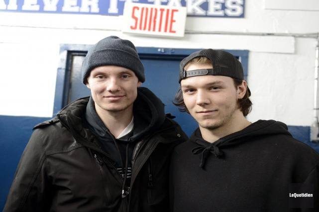 Deux vétérans de 20 ans des Sags, Garrett... (Photo Le Quotidien, Jeannot Lévesque)