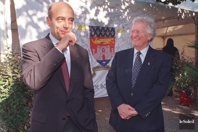Alain Juppé et Jean-Paul L'Allier à Bordeaux... (Photothèque Le Soleil)