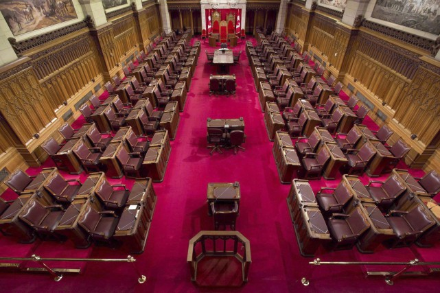 La chambre du Sénat... (PHOTO ARCHIVES LA PRESSE CANADIENNE)