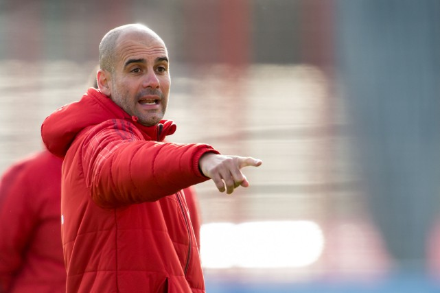 Pep Guardiola... (Photo Peter Kneffel , AFP/DPA)
