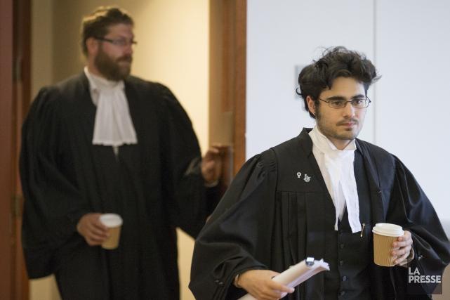 Les avocats de la défense, MeSébastien M. Brousseau... (PHOTO IVANOH DEMERS, LA PRESSE)