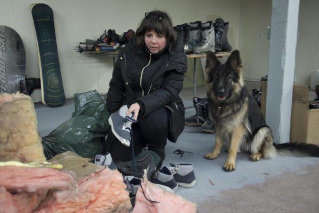 Sylvie Pronovost et sa chienne Fuji ont constaté... (Sylvain Mayer)